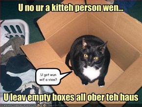 U no ur a kitteh person wen...