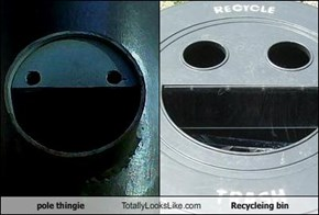 pole thingie Totally Looks Like Recycleing bin