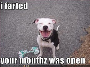 i farted  your mouthz was open