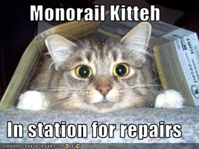 Monorail Kitteh  In station for repairs
