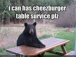i can has cheezburger table survice plz