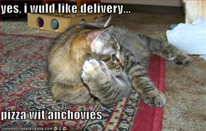 yes, i wuld like delivery...  pizza wit anchovies