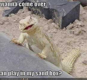 wanna come over  an play in my sand box?