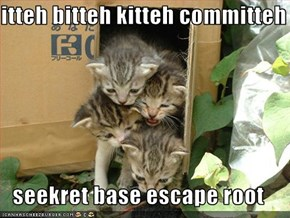 itteh bitteh kitteh committeh  seekret base escape root