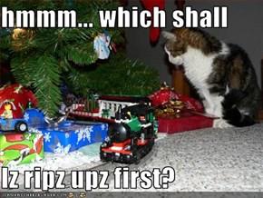 hmmm... which shall  Iz ripz upz first?