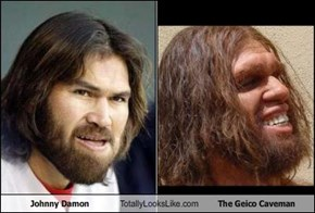 Johnny Damon Totally Looks Like The Geico Caveman