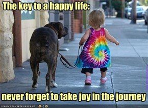 The key to a happy life:
