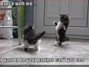 Dance with me....  I want to be your partner can't you see