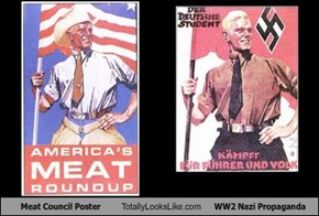 Meat Council Poster Totally Looks Like WW2 Nazi Propaganda