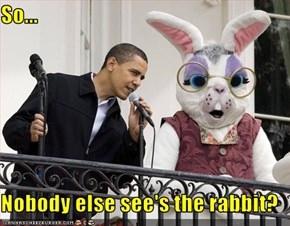 So...  Nobody else see's the rabbit?