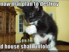 now mai plan to destroy  d house shall unfold