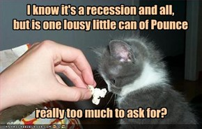 I know it's a recession and all,  but is one lousy little can of Pounce