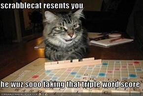 scrabblecat resents you  he wuz sooo taking that triple word score