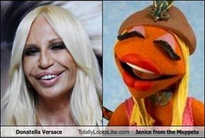 Donatella Versace Totally Looks Like Janice from the Muppets