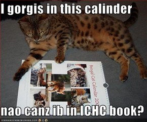 I gorgis in this calinder  nao canz ib in ICHC book?