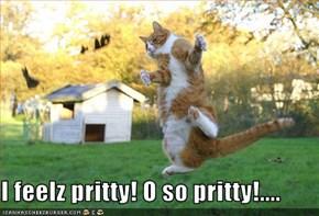 I feelz pritty! O so pritty!....