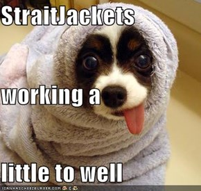 StraitJackets working a little to well