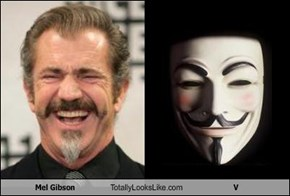 Mel Gibson Totally Looks Like V