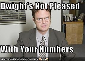 Dwight's Not Pleased  With Your Numbers