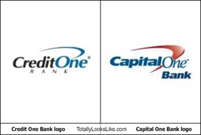 Credit One Bank logo Totally Looks Like Capital One Bank logo