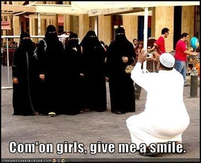 Com'on girls, give me a smile.