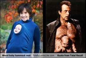 Weird baby hammock vest Totally Looks Like Kuato from Total Recall