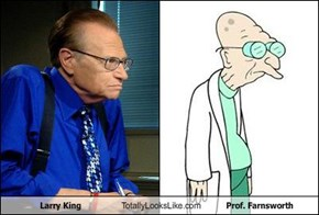 Larry King Totally Looks Like Prof. Farnsworth