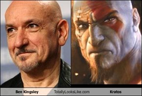 Ben Kingsley Totally Looks Like Kratos