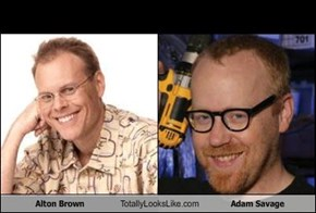 Alton Brown Totally Looks Like Adam Savage