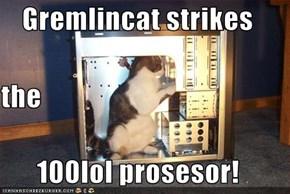 Gremlincat strikes the 100lol prosesor!