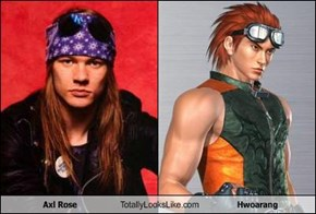 Axl Rose Totally Looks Like Hwoarang