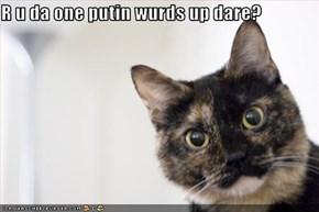 R u da one putin wurds up dare?