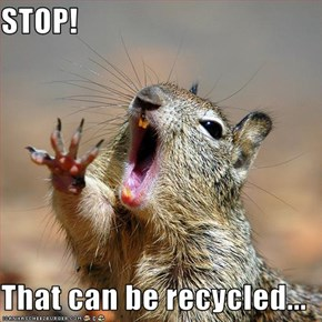 STOP!  That can be recycled...