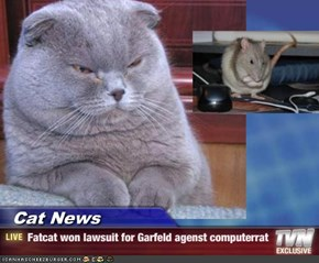 Cat News - Fatcat won lawsuit for Garfeld agenst computerrat