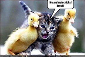 Me and mah chicks! I rock!