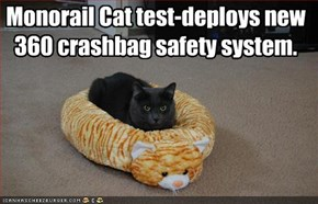 Monorail Cat test-deploys new 360 crashbag safety system.