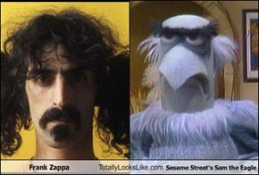 Frank Zappa Totally Looks Like Sesame Street's Sam the Eagle