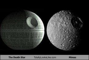 The Death Star Totally Looks Like Mimas