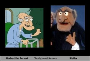 Herbert the Pervert Totally Looks Like Statler