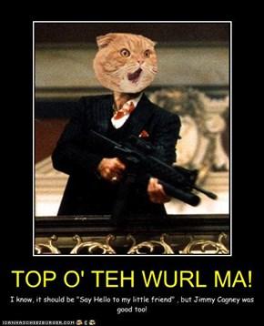 TOP O' TEH WURL MA!