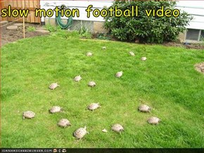 slow motion football video