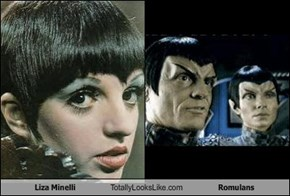 Liza Minelli Totally Looks Like Romulans