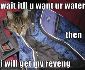 wait itll u want ur water then i will get my reveng