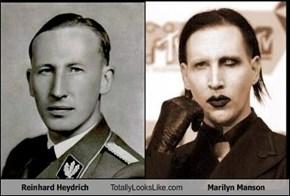 Reinhard Heydrich Totally Looks Like Marilyn Manson