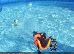 I can swimz wiffout floaties nao?