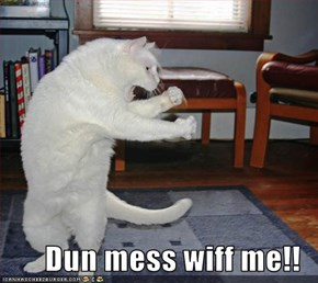 Dun mess wiff me!!