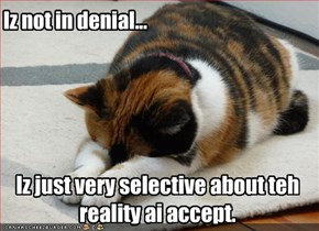 Iz not in denial...