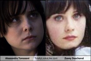 Alessandra Toressani Totally Looks Like Zooey Deschanel