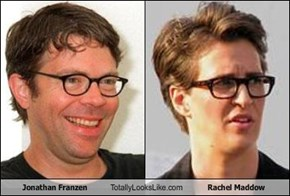 Jonathan Franzen Totally Looks Like Rachel Maddow