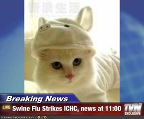 Breaking News - Swine Flu Strikes ICHC, news at 11:00